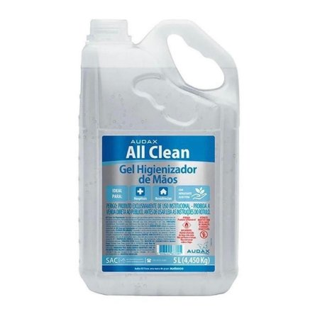 Álcool gel 70 Audax All Clean - 5L