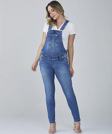 Macacão Jeans Skinny