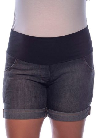 Bermuda Jeans Gestante com Barra Dobrada Patrello