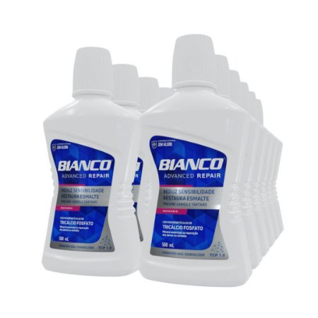 1 Dúzia de Enxaguante Bucal Bianco Advanced Repair (500ml)