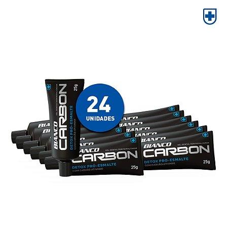 24 un de Creme Dental Bianco Carbon Mini (25g)