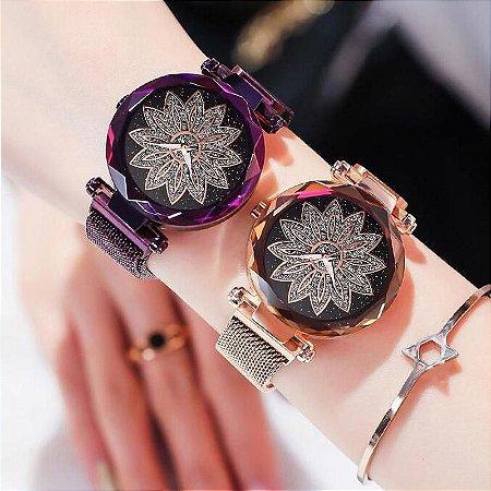 Kit 2 Relógios Lírio Cintilante