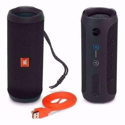 Caixa Bluetooth JBL Flip 5 Black, Estéreo, Classificação IPX7 à prova d?água, S/Fio, Viva voz, Recarregável, Autonomia para 12hs.