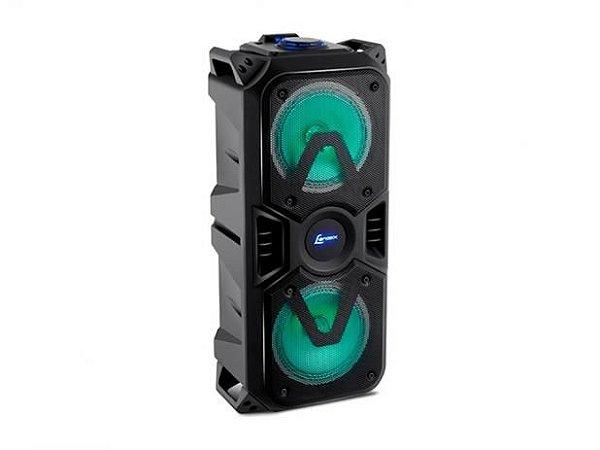 Caixa Amplificada Lenoxx CA400 200W, Bluetooth, USB, Micro SD Card, Entrada Para Microfone, Luzes RGB