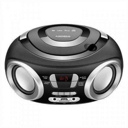Rádio Portátil com Cd Mondial Bx-13, 6w de Pontência, Radio Fm, Bivolt automático, USB e Display Digital.
