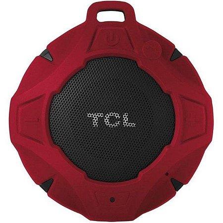 Caixa Bluetooth TCL BS05 IPX7, Vermelha, À prova d'água, Viva voz, Recarregável, Autonomia de até 8hs