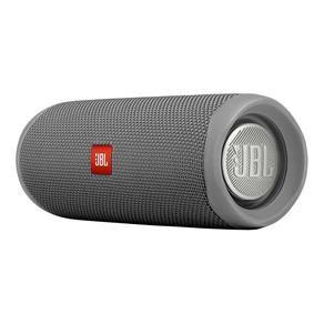Caixa Bluetooth JBL Flip 5 Gray, Estéreo, Classificação IPX7 à prova d?água, S/Fio, Viva voz, Recarregável, Autonomia para 12hs.