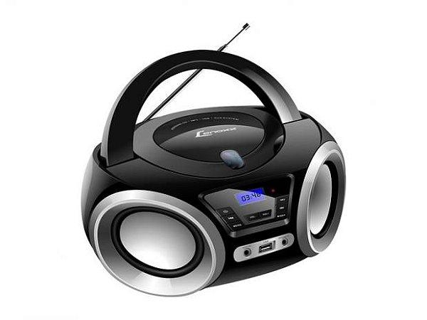 Rádio CD Portátil Lenoxx BD-1370, CD Player, Rádio FM, Display Digital, USB, Entrada Auxiliar.