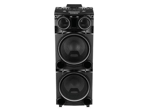 "Caixa Amplificada Gradiente GCA-103 Power Bass 1500W 2x12"", Bluetooth, USB, 2 Woofer 12"" + 2 Tweeter"
