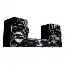 "Mini System Panasonic AKX520, 580W, Duplo USB, Tweeter 2,3"", Woofer 8"", Bluetooth Audio Link, D. Bass."