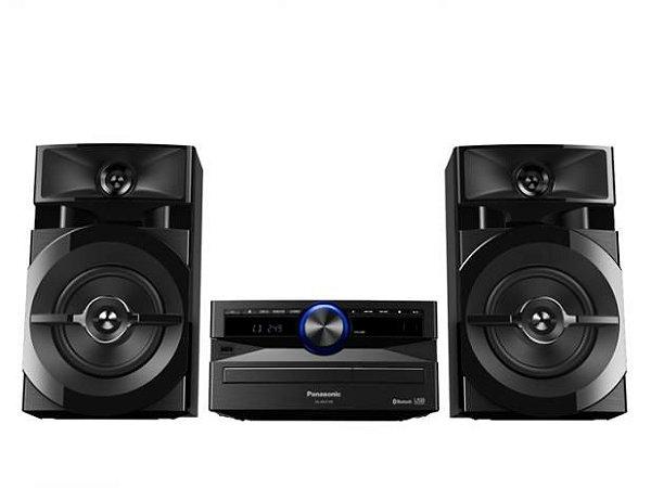 Mini System Panasonic AKX100 250W RMS, Bluetooth, Wireless Média, Max Juke, USB, Entrada auxiliar, Double Bass