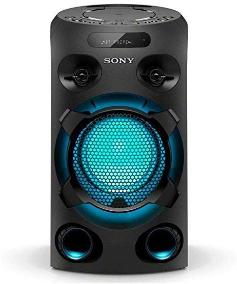 Mini System Sony MHC-V02D, Conexão USB, Iluminação, Karaokê, Bluetooth, Controle Por Voz.