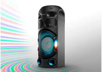 Mini System Sony MHC-V42D, USB, MP3, FM, Bluetooth, Karaokê, Função DJ, DVD Integrado, Controle Por Gestos.