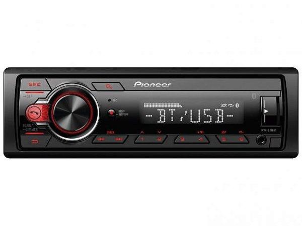 Auto Rádio Pioneer MVH-S218BT, Entrada Auxiliar Frontal, Bluetooth, Viva Voz, Entrada USB, Rádio AM/FM.