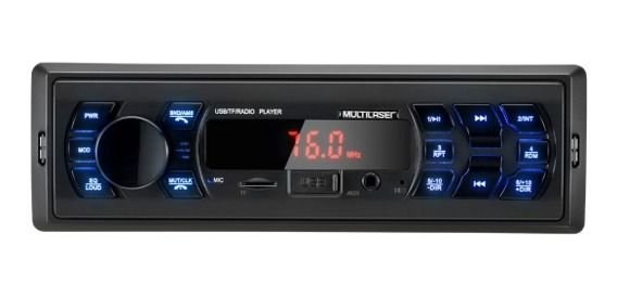 Auto Rádio Multilaser POP P3333 , USB, Micro SD Card, Entrada Auxiliar, Rádio FM.
