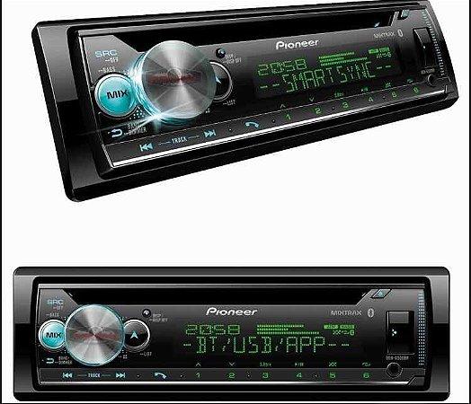 Auto Rádio Pioneer DEH-X5000BR, CD Player, Bluetooth®, USB, Entrada Auxiliar, Comando de Volante.