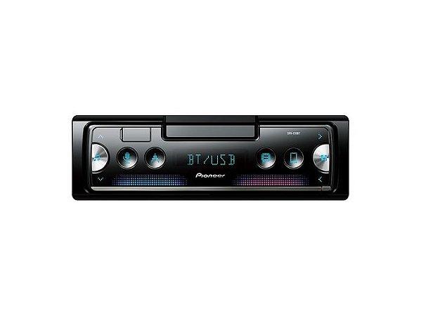 Auto Rádio Pioneer SPH-C10BT, 1 Din, Bluetooth, USB, 3 Saídas RCA, Controle de Volante, Pioneer Smart Sync.