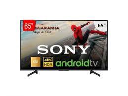 """TV LED 4K Sony 65"""" XBR X805G Smart, com pesquisa de voz, Google Assistente, Chromecast."""