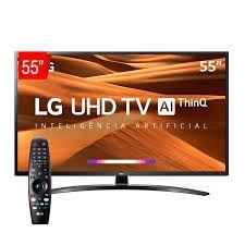 Smart TV LG 55UM7470 55'', UHD 4K IPS HDR, ThinQ AI, DTS Virtual X