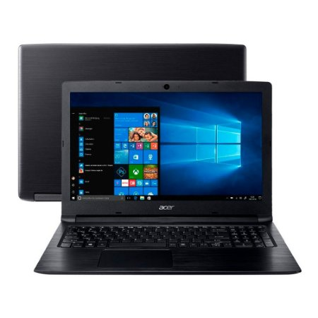 "Notebook Acer Aspire 3 A315-33-C1KX Intel® Celeron® N3060 Memoria RAM de 4GB HD de 500GB Tela de 15.6"" HD Windows 10"