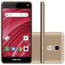 Smartphone Positivo S431 TWIST MINI, Android 7.0 Oreo, Dual chip, 5MP e frontal de 5MP, 4.0'', 8GB, 3G. Dourado