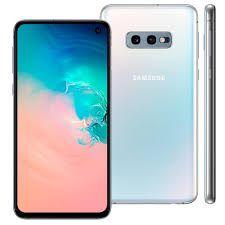 """Smartphone Samsung S10E, Android 9.0, Dual Chip, Câmera Dupla Traseira 12 MP + 16 MP, Frontal 10 MP, 5.8"""", 128 GB, RAM 6GB, Rede 4G, Branco"""