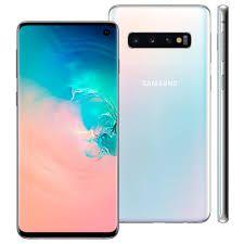 Smartphone Samsung S10 SM-G973F/1DL, Android 9.0, Dual Chip, Processador Octa Core 2.7 GHz, Câmera Tripla Traseira 12 MP + 16 MP + 12 MP e Branco...