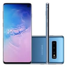 "Smartphone Samsung S10, Android 9.0, Dual Chip, Câmera Tripla Traseira 12 MP + 16 MP + 12 MP, Frontal 10 MP, 6.1"", 128 GB, RAM 8GB, Rede 4G, Azul"