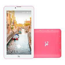 """Tablet DL Mobi Tab Tela 7"""" 3G Dual Chip 1GB/8GB - Rosa"""