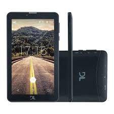 """Tablet DL Mobi Tab Tela 7"""" 3G Dual Chip 1GB/8GB - Preto"""