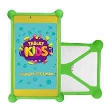 "Tablet DL Kids C10 - Tela 7"" Quad Core 8GB WiFi - Android - Branco - C/ Capa Bumper Verde (TX394BBV)"