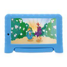 Tablet Galinha Pintadinha Plus Quad Core 1GB RAM Wifi 7 Pol. 8GB Android 7 Azul Multilaser - NB282