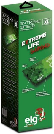 Mouse Pad Gamer ELG Extreme Speed MPES Verde, Extra Grande