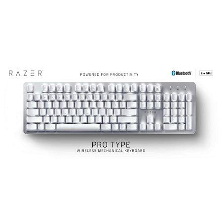 Teclado Razer Pro Type Wireless Branco
