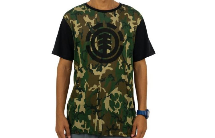 Camiseta Element Camuflada Camo