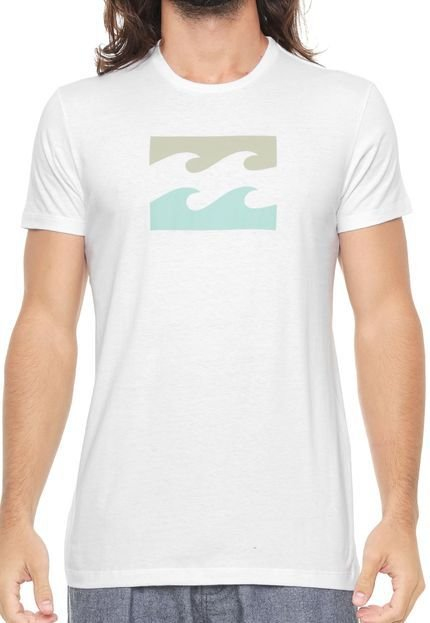 Camiseta Billabong Wave Branco Masculino