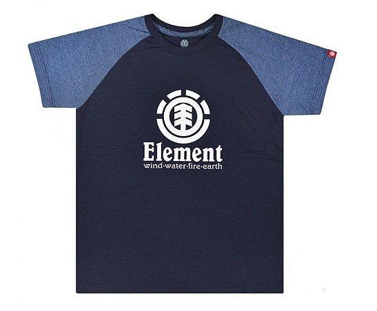 Camiseta Element Infantil Vertical Raglan Bk Azul Masculino