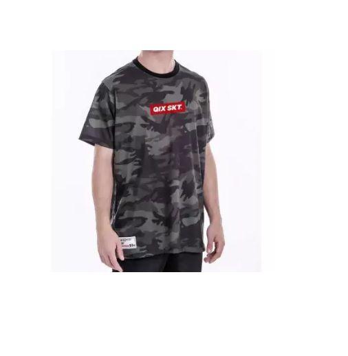 Camiseta Qix Print Camuflada