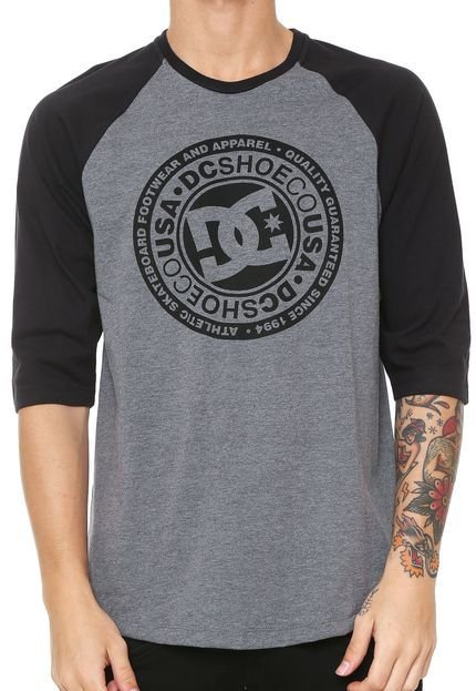 Camisa DC Especial Research Cinza Masculino