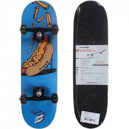 Skate Cisco Montado Infantil Dog Hot Preto/Azul
