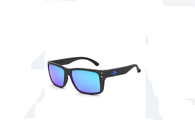 Óculos De Sol Mormaii Mumbai Preto Lente Azul