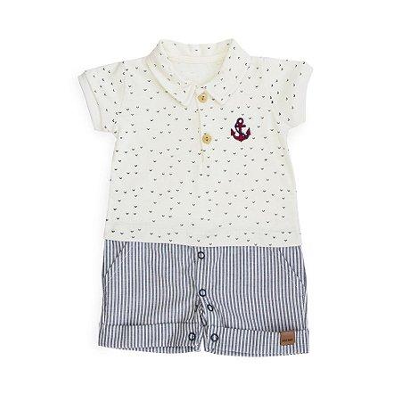 Macacão Polo  Ancora - Keko Baby