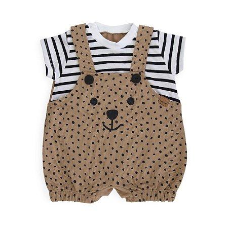 Jardineira Urso - Keko Baby
