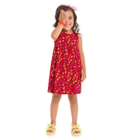 Vestido Infantil Feminino Flores - Kyly