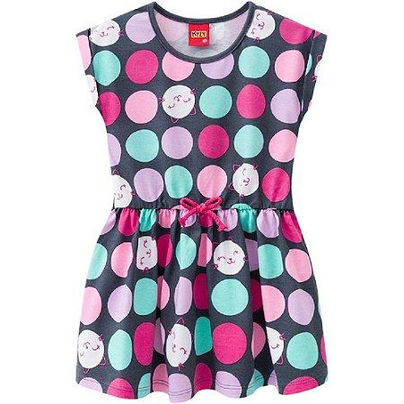 Vestido Infantil Feminino Bolinhas - Kyly