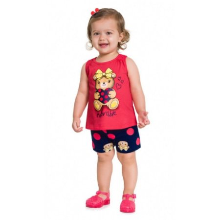 Conjunto Infantil Feminino Adorable- Kyly