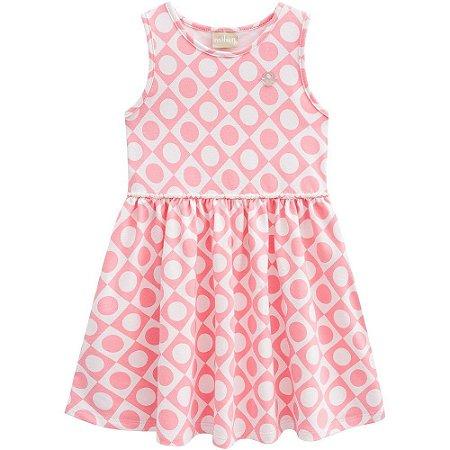 Vestido Infantil Cotton com Perolas - Milon