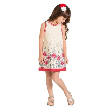 Vestido Infantil Floral Milon