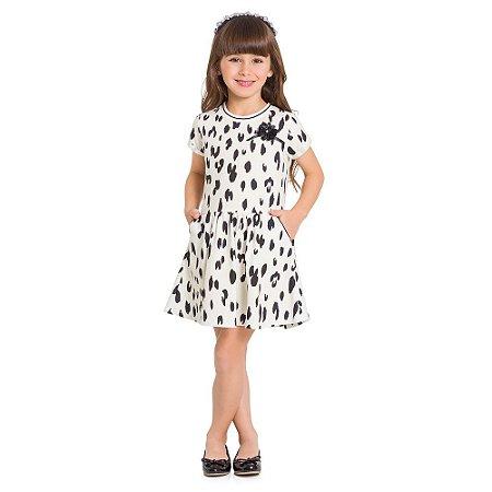 Vestido Infantil Moletinho Oncinha -  Milon