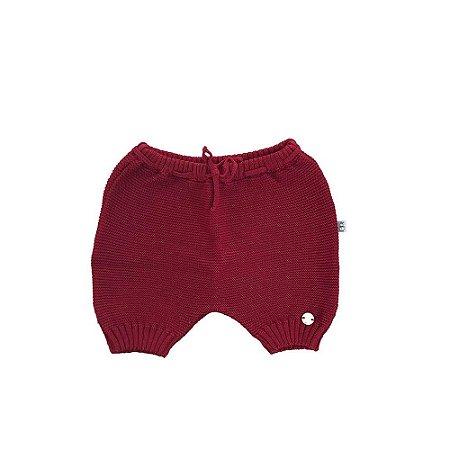Shorts Tapa Fralda Tricô